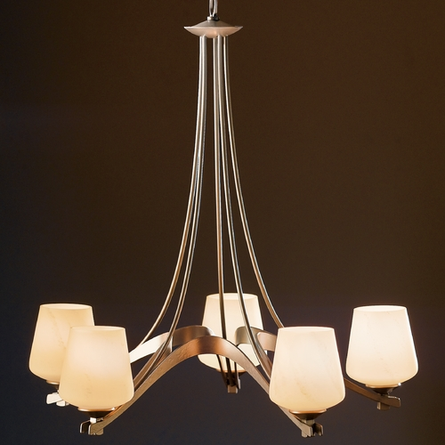 Hubbardton Forge Lighting Hubbardton Forge Lighting Ribbon Burnished Steel Chandelier 104105-08-H236