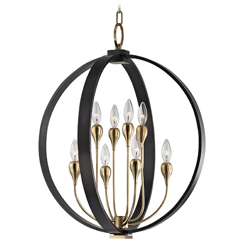 Hudson Valley Lighting Dresden 8 Light 2-Tier Chandelier - Aged Old Bronze 6722-AOB