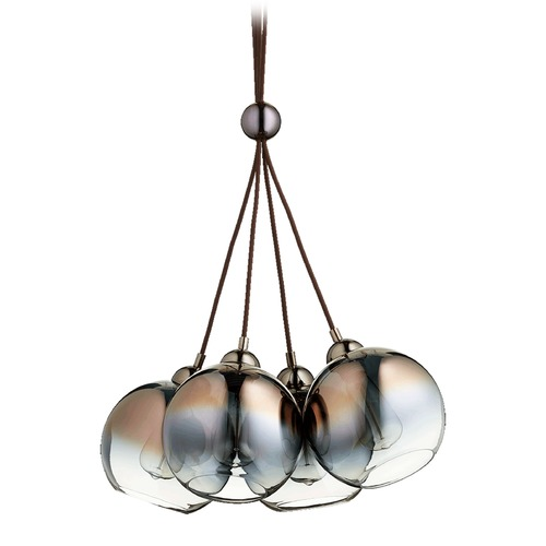 Quorum Lighting Quorum Lighting Gunmetal Pendant Light with Globe Shade 811-4-11