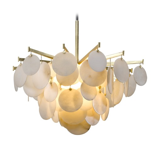 Corbett Lighting Corbett Lighting Serenity Gold Leaf LED Pendant Light 228-44