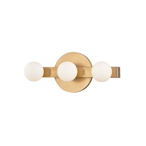 Hudson Valley Lighting Taft Aged Brass LED Bathroom Light 7003-AGB