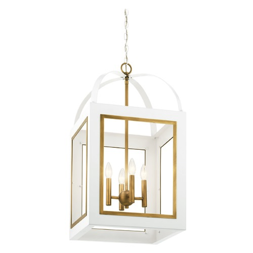 Kichler Lighting Kichler Lighting Vath White Pendant Light 52029WHNBR