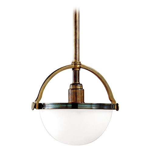 Hudson Valley Lighting Mini-Pendant Light with White Glass 3311-HB