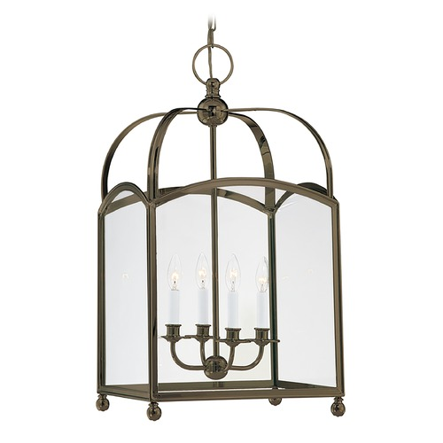 Hudson Valley Lighting Pendant Light with Clear Glass in Distressed Bronze Finish 8416-DB