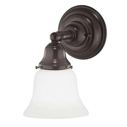 Design Classics Lighting Traditional Sconce Bronze with Bell Glass 671-30/G9110 KIT