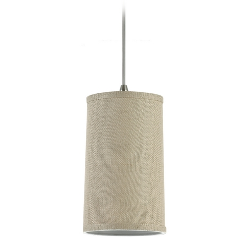 Sea Gull Lighting Modern Mini-Pendant Light with Beige / Cream Shade 94626-994