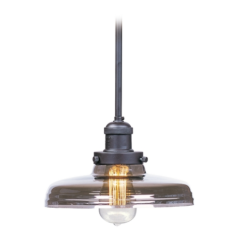 Maxim Lighting Mini-Pendant Light with Clear Glass 25047MSKBZ/BUI