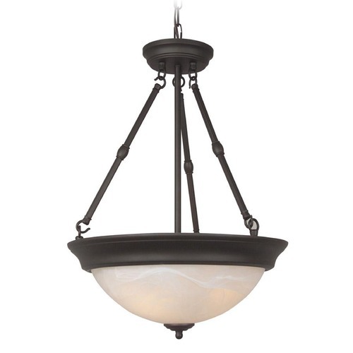 Jeremiah Lighting Jeremiah Oiled Bronze Pendant Light with Bowl / Dome Shade X225-OB