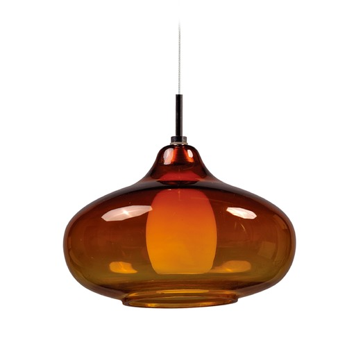 ET2 Lighting Minx Bronze Mini-Pendant Light with Oblong Shade E94448-141BZ
