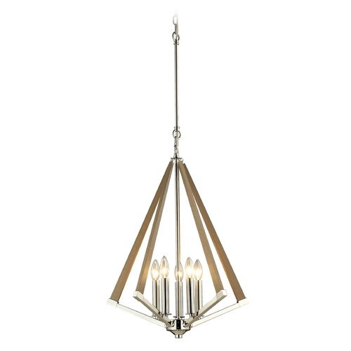 Elk Lighting Modern Pendant Light in Polished Nickel Finish 31474/5