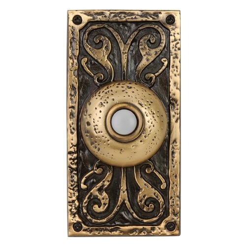 Craftmade Lighting Craftmade Lighting Burnished Brass LED Doorbell Button PB3037-BB