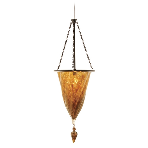 WAC Lighting Wac Lighting Dark Bronze Mini-Pendant with Conical Shade MP-935-GL/DB