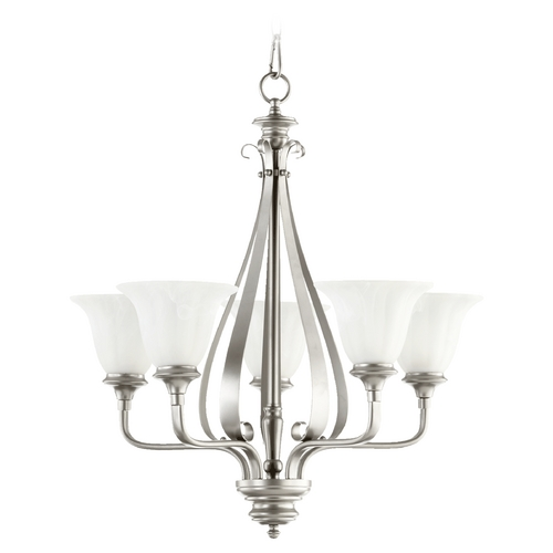Quorum Lighting Quorum Lighting Randolph Classic Nickel Chandelier 6194-5-64