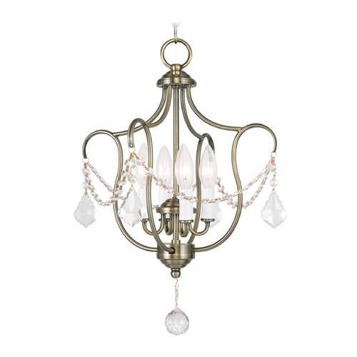 Livex Lighting Livex Lighting Chesterfield Antique Brass Pendant Light 6434-01