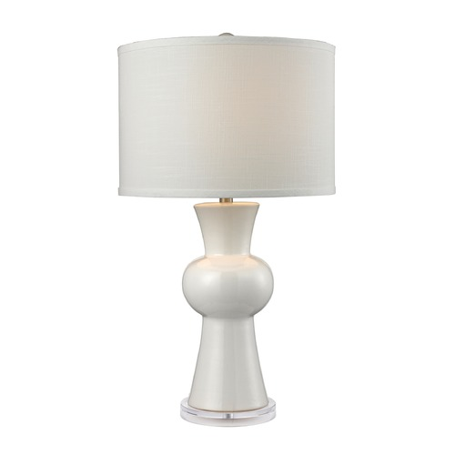 Dimond Lighting Dimond Lighting Gloss White Table Lamp with Drum Shade D2618