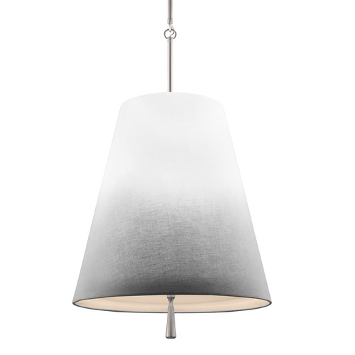 Feiss Lighting Feiss Lighting Tori Satin Nickel Pendant Light with Empire Shade F2958/3SN