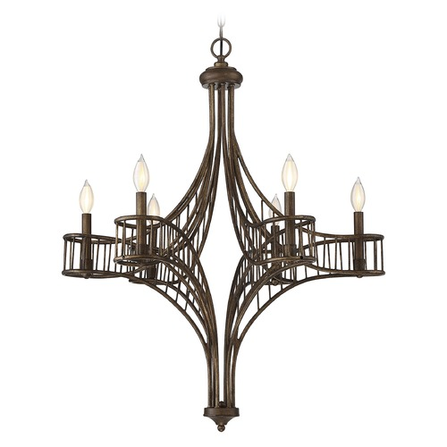 Savoy House Savoy House Lighting Licton Guilded Bronze Chandelier 1-166-6-131