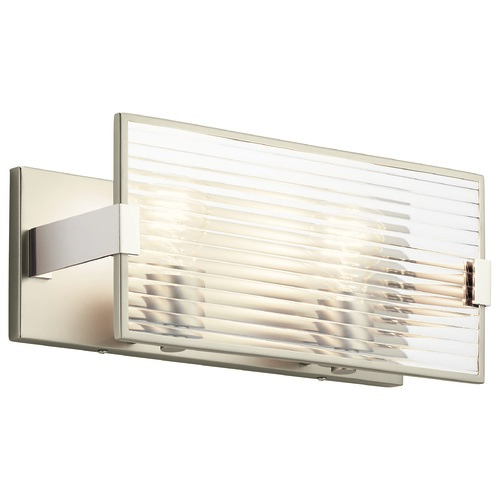 Kichler Lighting Kichler Lighting Logan Satin Nickel Bathroom Light 55006SN