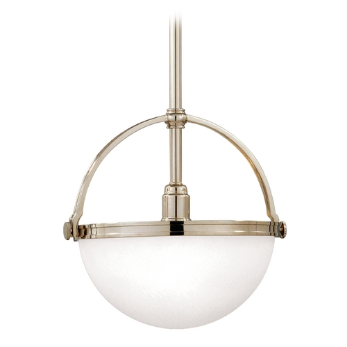 Hudson Valley Lighting Mini-Pendant Light with White Glass 3311-PN