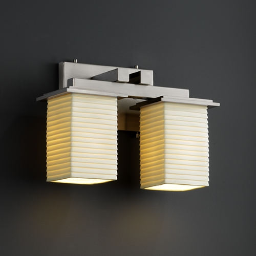 Justice Design Group Justice Design Group Limoges Collection Bathroom Light POR-8672-15-SAWT-NCKL
