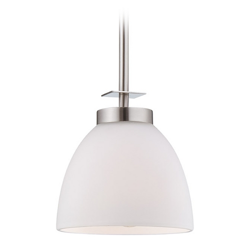 Nuvo Lighting Mini-Pendant Light with White Glass 60/5015