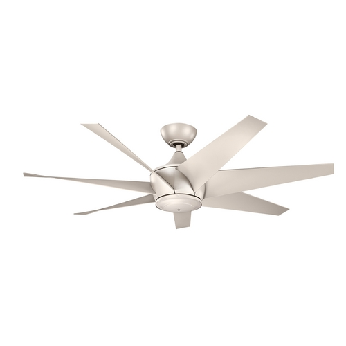 Kichler Lighting Kichler Lighting Lehr Ii Antique Satin Silver Ceiling Fan Without Light 310112ANS