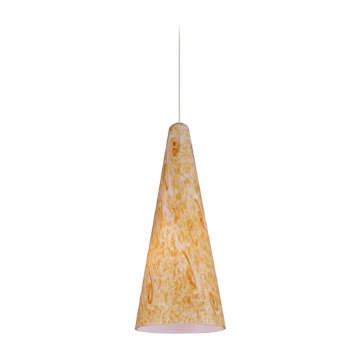 ET2 Lighting Minx Bronze Mini-Pendant Light with Conical Shade E94530-103BZ