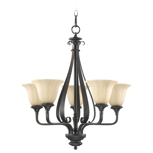 Quorum Lighting Quorum Lighting Randolph Oiled Bronze Chandelier 6194-5-86