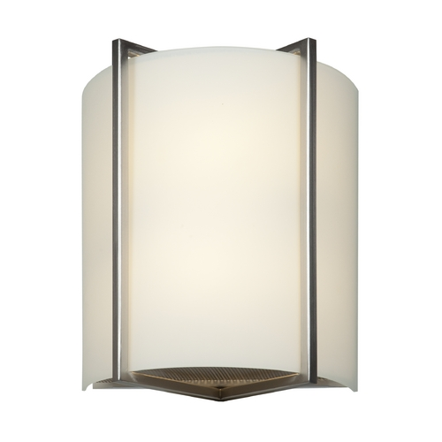 Access Lighting Access Lighting Vector Brushed Steel Sconce 20451-BS/OPL