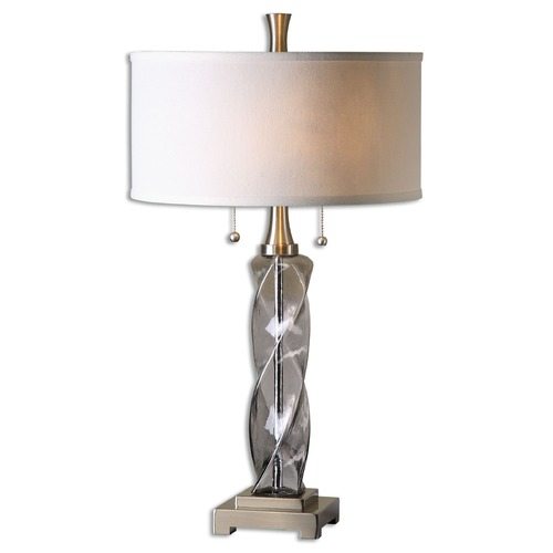 Uttermost Lighting Uttermost Spirano Gray Glass Table Lamp 26634-1