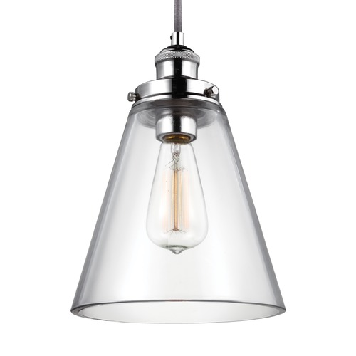 Feiss Lighting Feiss Baskin Polished Nickel Mini-Pendant Light P1347PN