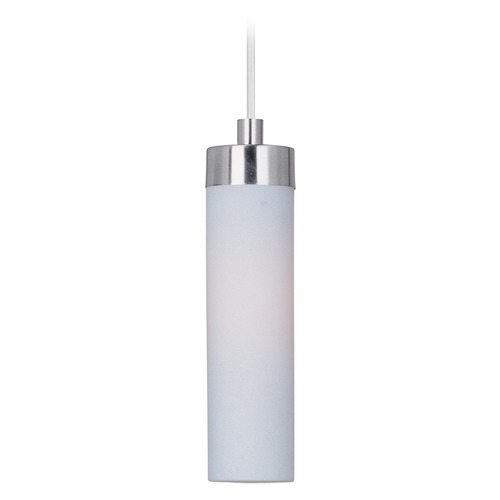 ET2 Lighting Cilandro LED Satin Nickel LED Mini-Pendant Light with Cylindrical Shade E63109-11SN
