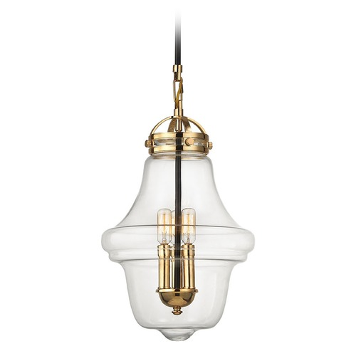 Elk Lighting Elk Lighting Gramercy Polished Gold, Oil Rubbed Bronze Pendant Light with Urn Shade 67153/3