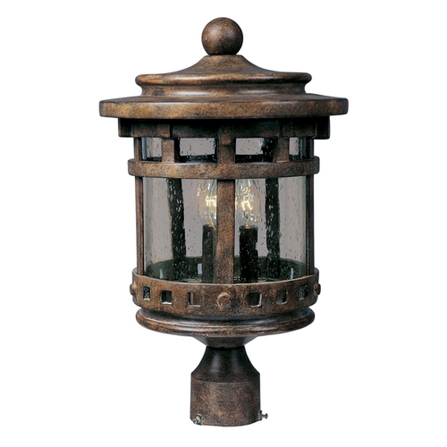 Maxim Lighting Post Light with Clear Glass in Sienna Finish 3136CDSE