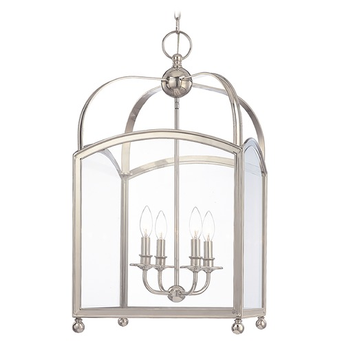 Hudson Valley Lighting Pendant Light with Clear Glass in Polished Nickel Finish 8416-PN