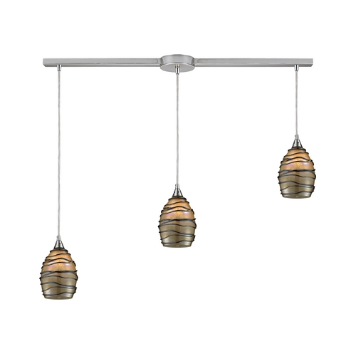 Elk Lighting Modern Multi-Light Pendant Light with Alabaster Glass and 3-Lights 31142/3L