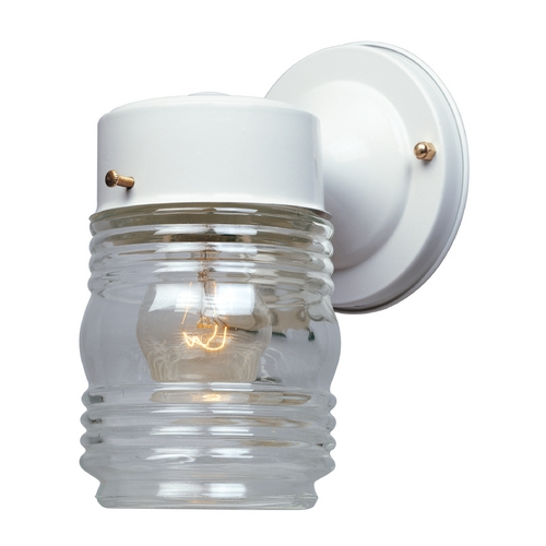 Designers Fountain Lighting Outdoor Wall Light with Clear Glass in White Finish 2061-WH