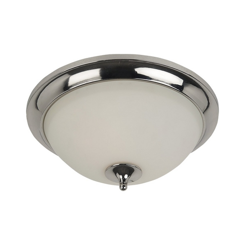 Sea Gull Lighting Modern Flushmount Light with White Glass in Polished Nickel Finish 75971-841