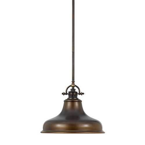 Quoizel Lighting Nautical Pendant Light in Bronze - 13-1/2-Inches Wide ER1814PN