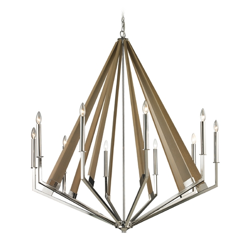 Elk Lighting Modern Chandelier in Polished Nickel Finish 31476/10