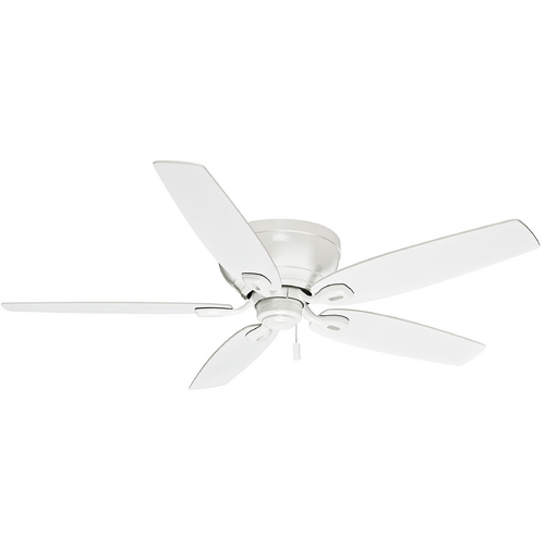 Casablanca Fan Co Casablanca Fan Durant Snow White Ceiling Fan Without Light 54103