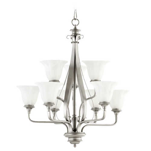 Quorum Lighting Quorum Lighting Randolph Classic Nickel Chandelier 6194-9-64