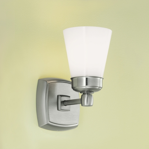 Norwell Lighting Norwell Lighting Soft Square Brush Nickel Sconce 8931-BN-SO