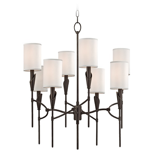 Hudson Valley Lighting Tate 8 Light 2-Tier Chandelier - Old Bronze 1304-OB