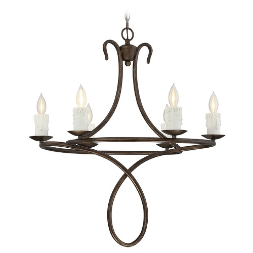 Savoy House Savoy House Lighting Lynch Guilded Bronze Chandelier 1-170-6-131