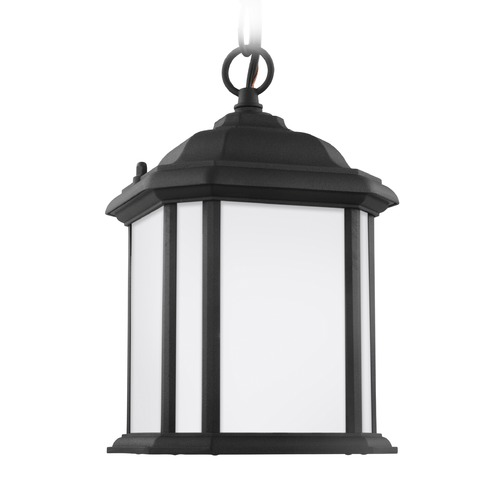 Sea Gull Lighting Sea Gull Kent Black Outdoor Hanging Light 60529-12