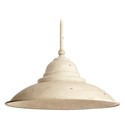 Quorum Lighting Farmhouse Pendant Light White by Quorum Lighting 812-26-70