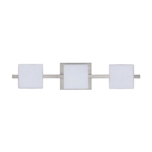 Besa Lighting Besa Lighting Alex Satin Nickel LED Bathroom Light 3WS-773507-LED-SN