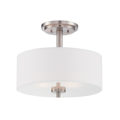 Designers Fountain Lighting Designers Fountain Harlowe Satin Platinum Semi-Flushmount Light 87211-SP