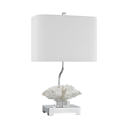 Dimond Lighting Dimond Prince Edward Island White and Polished Nickel Table Lamp with Rectangle Shade D3027